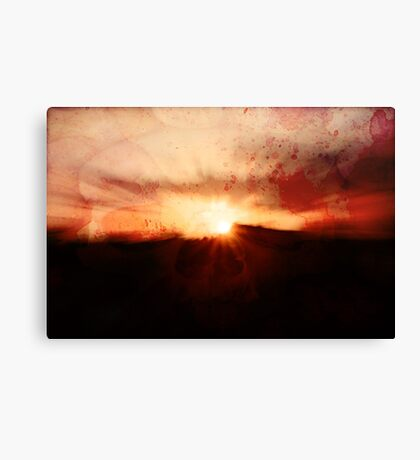 If one only had something to eat... Canvas Print