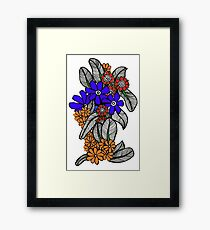 Autumn Bush Framed Print