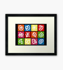 @ AND HIS FAMILY - BRUSH AND GOUACHE Framed Print