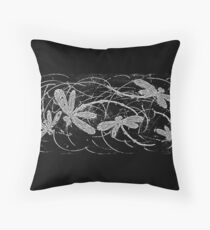 Dragonfly Night  Flit Throw Pillow