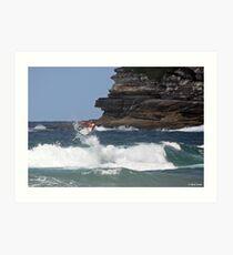 Kelly Slater - Bondi Beach Boost Show Art Print