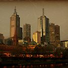 Melbourne Skyline by aussiedi