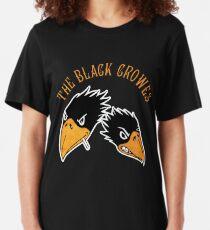crowes bird black two logo tour 2019 2020 jinggamuda Slim Fit T-Shirt