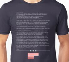 FRANK UNDERWOOD'S LETTER - HOUSE OF CARDS Unisex T-Shirt