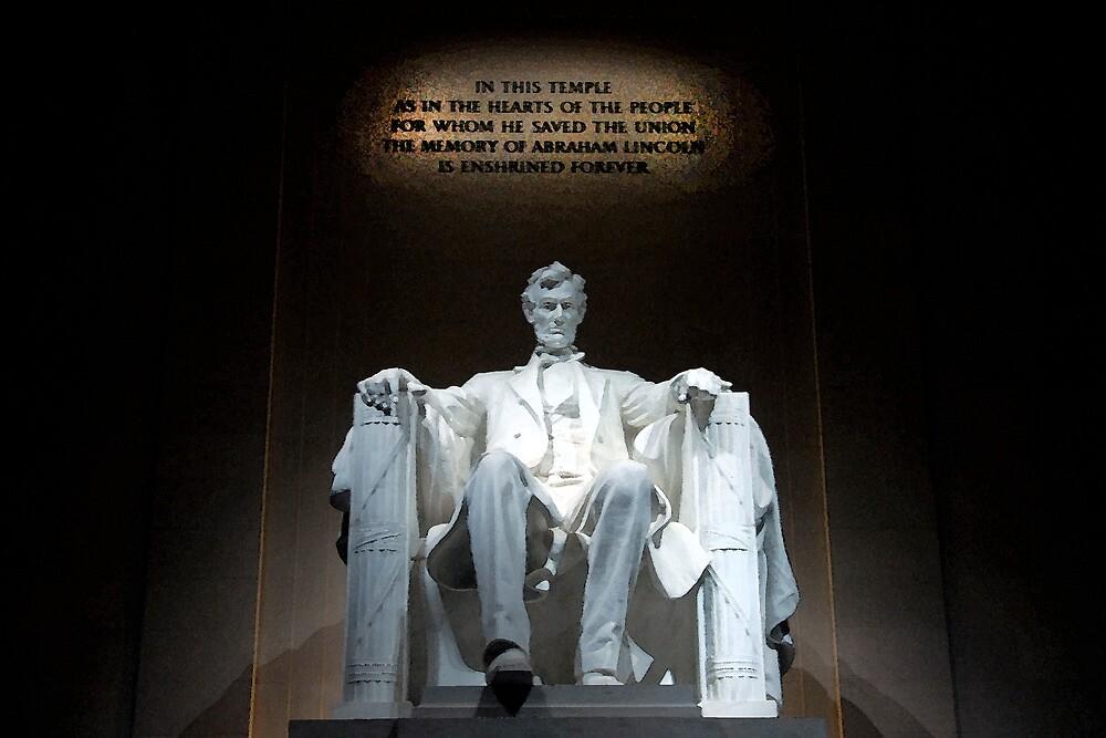 The Lincoln Memorial in Washington, D.C. by Joe Bashour