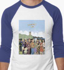 Hicksville Comics Beach Party Men's Baseball ¾ T-Shirt