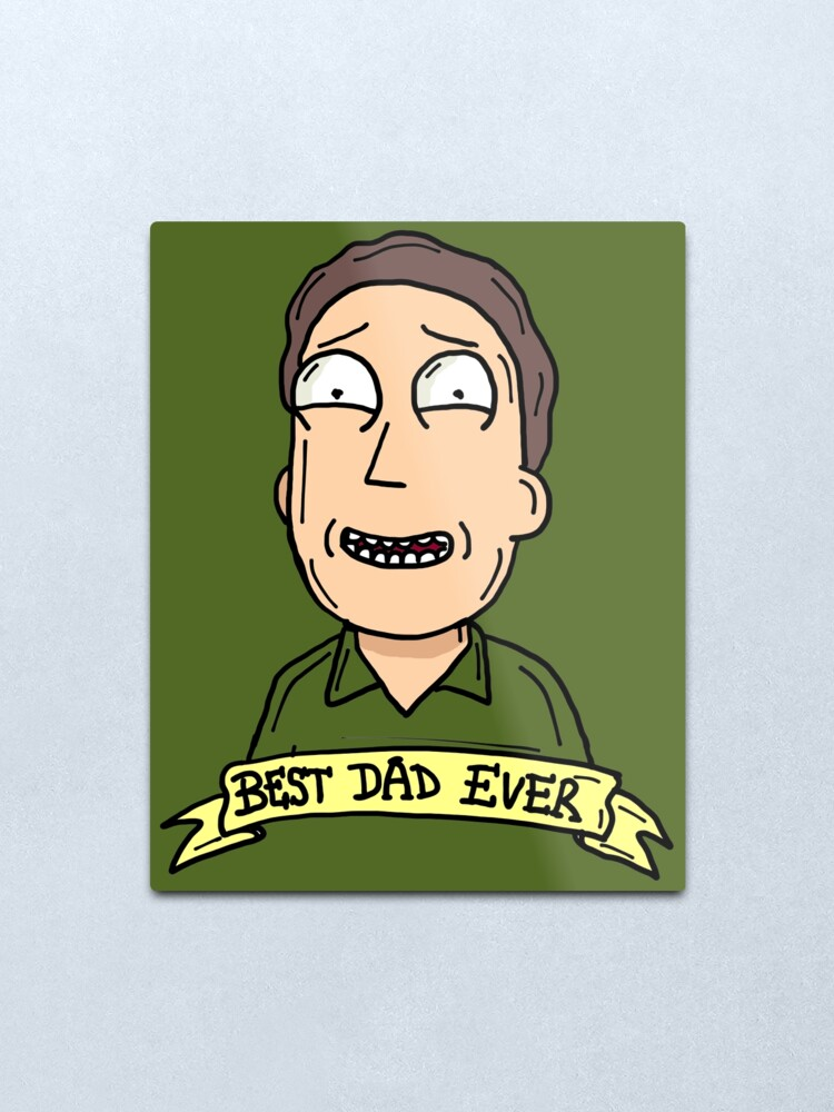 Alternate view of Jerry Smith from Rick and Morty™ : Best Dad Ever Metal Print