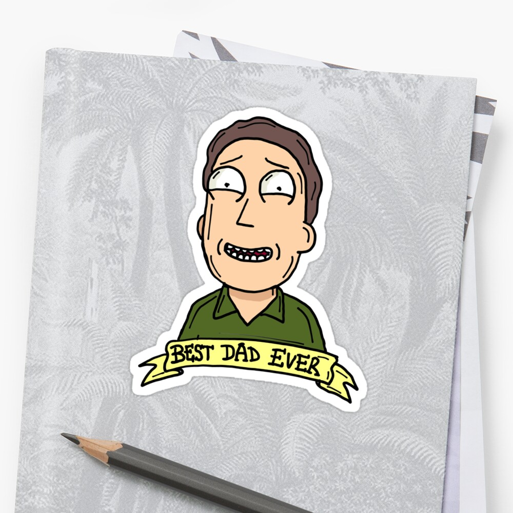 Jerry Smith from Rick and Morty™ : Best Dad Ever Sticker