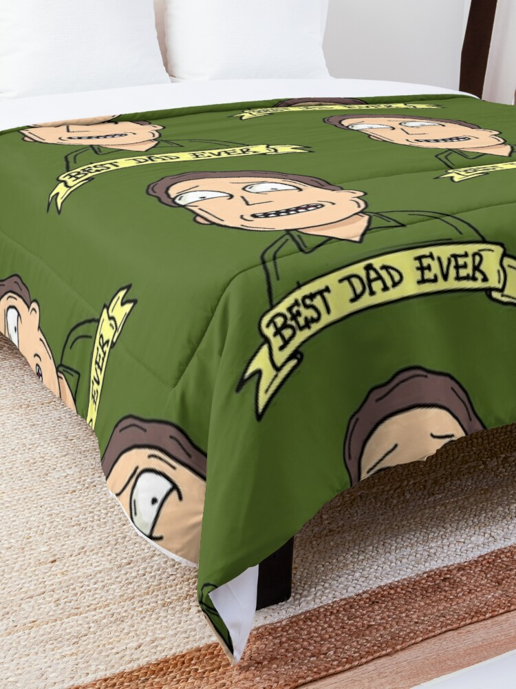 Alternate view of Jerry Smith from Rick and Morty™ : Best Dad Ever Comforter
