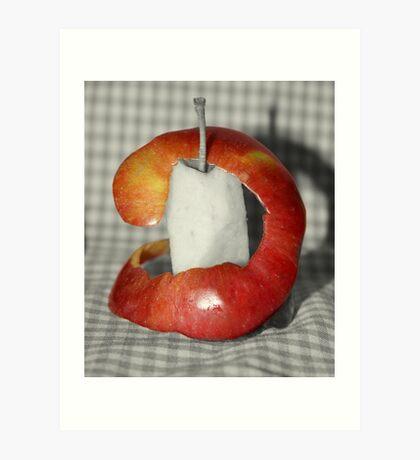 Apple Peeled Art Print