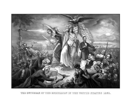 The Outbreak Of Rebellion In The United States 1861 by warishellstore