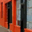 Orange Building by Rick Baber