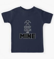 Minecraft - Keep Calm and Mine Kids Tee