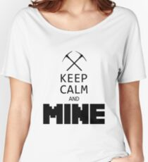 Minecraft - Keep Calm and Mine Women's Relaxed Fit T-Shirt