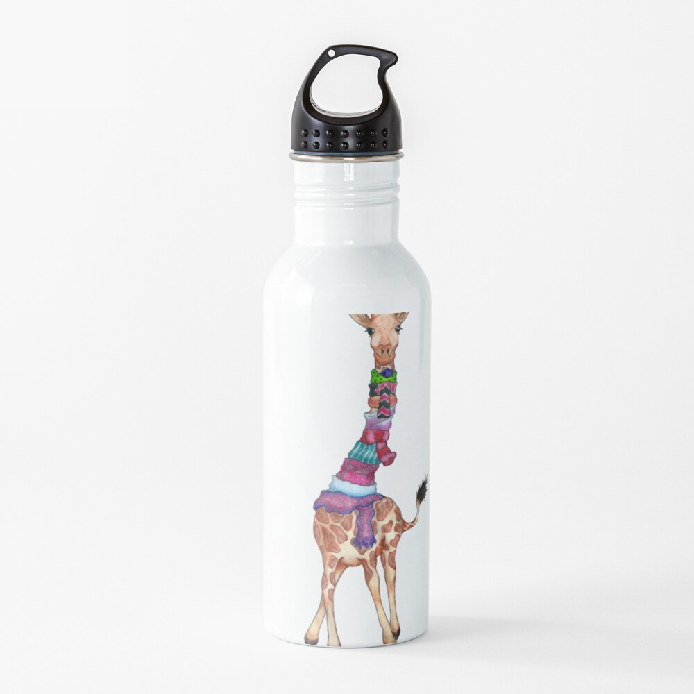 Cold Outside - Cute Giraffe Illustration Water Bottle
