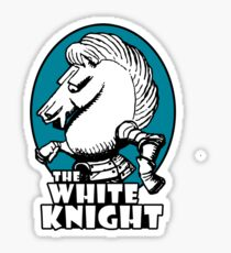 White Knight Logo in Teal Sticker