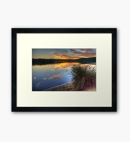 In A Rush - Narrabeen Lakes, Sydney Australia - The HDR Experience Framed Print