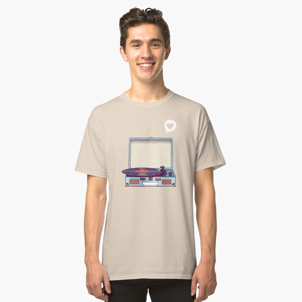 Blue Vinyl Record Player Classic T-Shirt