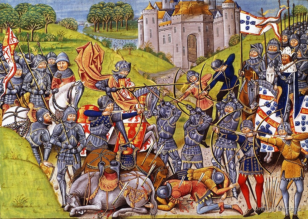 English vs french medieval battle mural by vintage for Siege mural rabattable