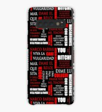 Phrases of Elite characters (Narco-barbie, Miss Palestine, Dime Lu and +) Case/Skin for Samsung Galaxy