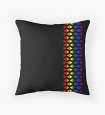 Vertical Band of Pride Triangles Throw Pillow
