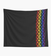 Vertical Band of Pride Triangles Tapestry