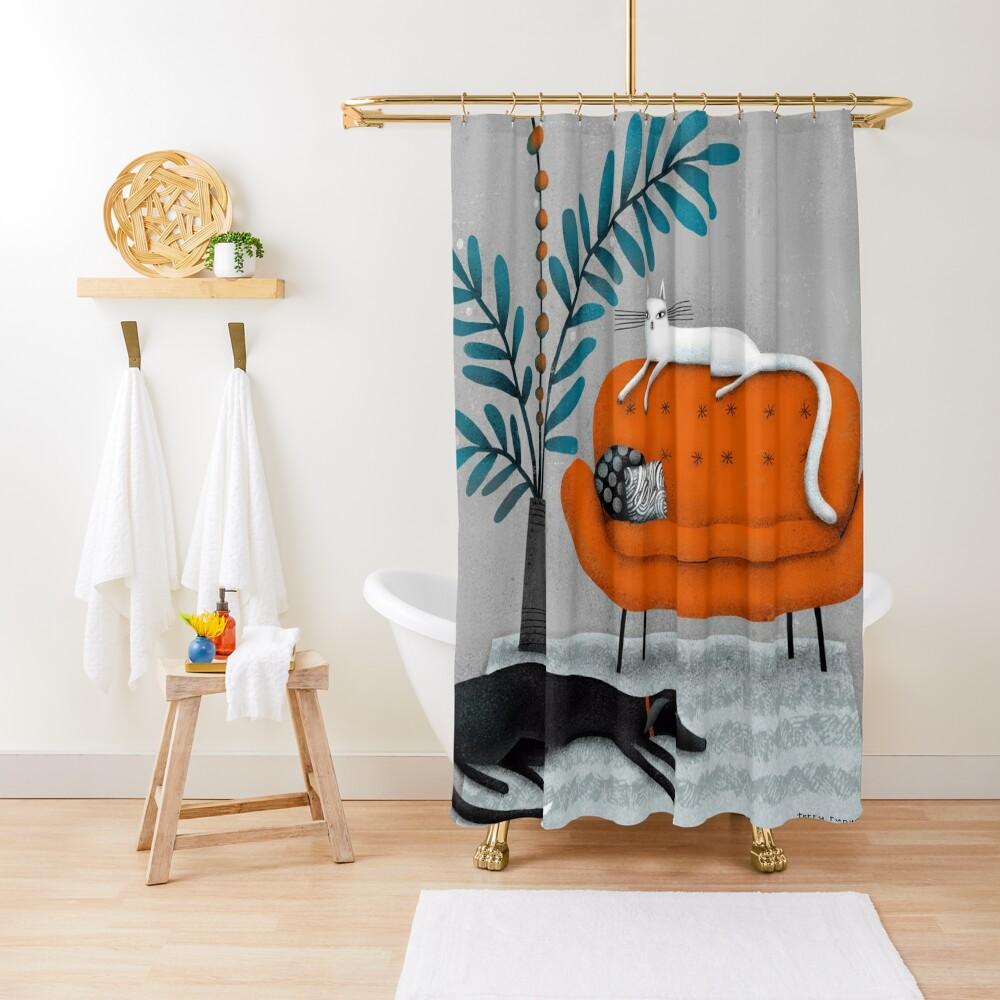 ORANGE SOFA Shower Curtain