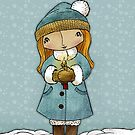 Mary with Christmas Greetings by Rencha