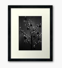 Christmas Silhouette Framed Print