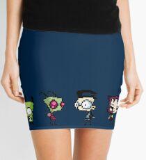 8-Bit Invader Zim Characters Mini Skirt