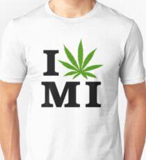 I Love Michigan Marijuana Cannabis Weed Unisex T-Shirt
