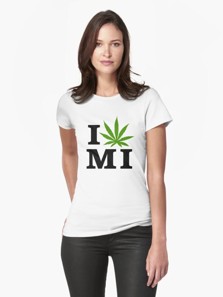 I Love Michigan Marijuana Cannabis Weed by MarijuanaTshirt