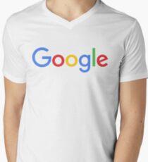 New Google Logo Men's V-Neck T-Shirt