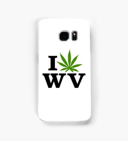 I Love West Virginia Marijuana Cannabis Weed Samsung Galaxy Case/Skin