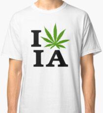 I Love Iowa Marijuana Cannabis Weed Classic T-Shirt