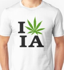 I Love Iowa Marijuana Cannabis Weed Unisex T-Shirt