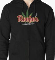 Reefer Marijuana Cannabis Weed Zipped Hoodie