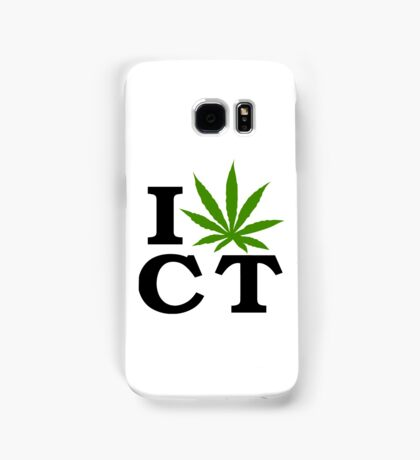I Love Connecticut Marijuana Cannabis Weed Samsung Galaxy Case/Skin