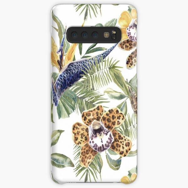 Jungle Animal Print Orchids Samsung Galaxy Snap Case