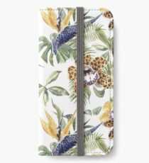 Jungle Animal Print Orchids iPhone Wallet/Case/Skin