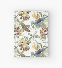 Jungle Animal Print Orchids Hardcover Journal