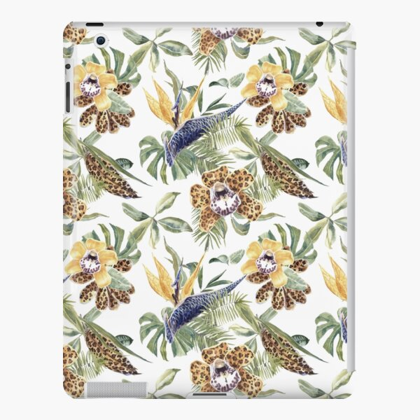 Jungle Animal Print Orchids iPad Snap Case