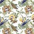 Jungle Animal Print Orchids by IconicTee
