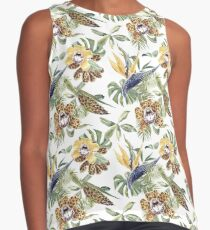 Jungle Animal Print Orchids Sleeveless Top