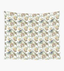 Jungle Animal Print Orchids Wall Tapestry