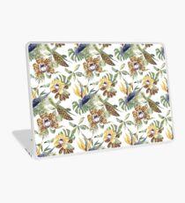 Jungle Animal Print Orchids Laptop Skin