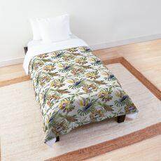 Jungle Animal Print Orchids Comforter