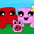 Super Meat Boy Family by FairyGardens