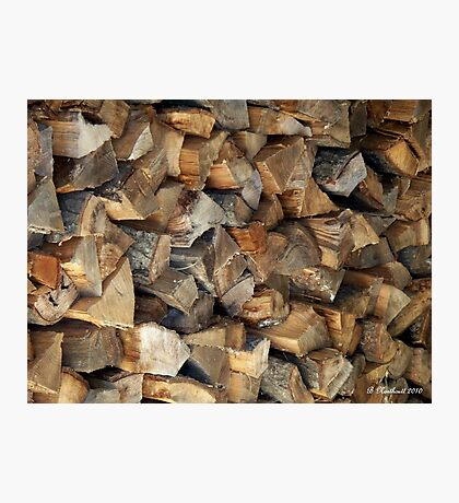 Ready For Winter - Firewood stacked and waiting Photographic Print