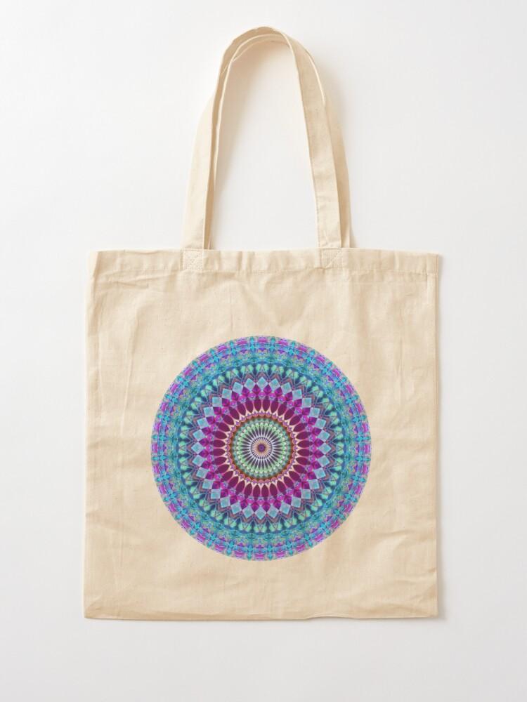 Alternate view of Geometric Mandala Tote Bag